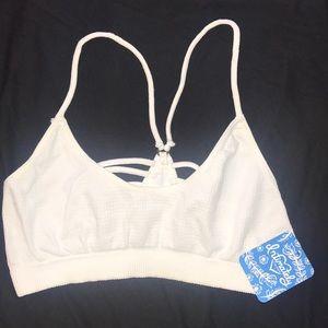 Free People white soft bra XS/S